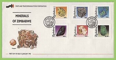 Zimbabwe 1993 Minerals set on First Day Cover