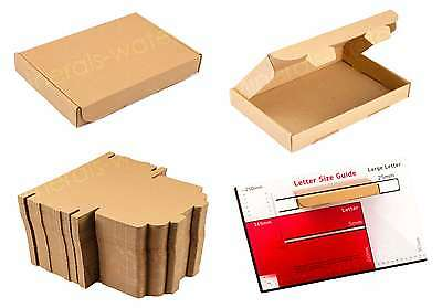 Brown C6 A6 Size Box Large Letter Strong Cardboard Shipping Mailing Postal Pip