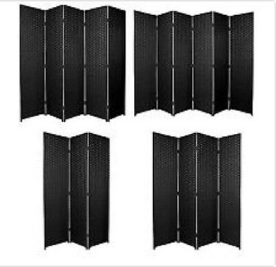 Partition Folding Room Divider Separator Privacy Screen Panel Black Gift 3 4 5 6