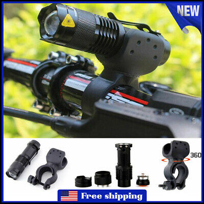 1200LM CREE Q5 LED Cycling Bike Head Light Lamp Torch Flashlight 360° Mount Clip