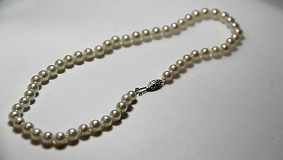 """Pearls - Single Strand 53 cultured pearlsnecklace 18.0"""" princess length"""