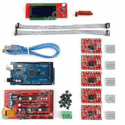 3D Printer Kit RAMPS 1.4+Mega2560+A4988+2004 LCD Controller For Arduino Reprap