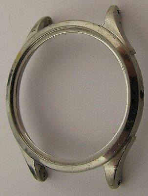 Omega Watch Case Incomplete in stainless steel for parts ... diameter 34.8 mm