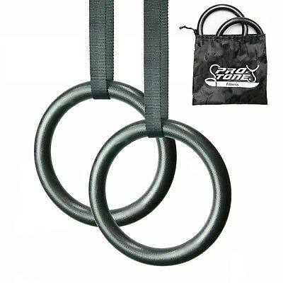 Gymnastic Rings For Muscle Ups Portable Olympic Crossfit Core Body Exercise