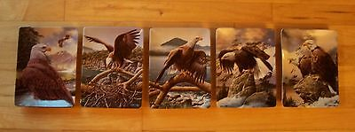 Plate Set of 5 REALM OF THE MAJESTIC EAGLE Hamilton Mountains Forest Oceans MIB