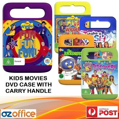 14mm Single DVD Carry Handle Case Kids DVD Case Black Pink Green Blue Red Yellow