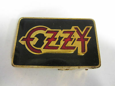 "vintage Ozzy belt buckle for 1"" BELT Measures 1 7/8x1 1/8"" 1983 rock #4"