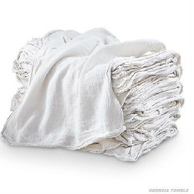 50 Industrial Commercial Shop Rags Cleaning Towels White 155# Bale Heavy Duty