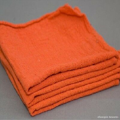 200 industrial commercial shop rags cleaning towels orange 155# bale heavy duty