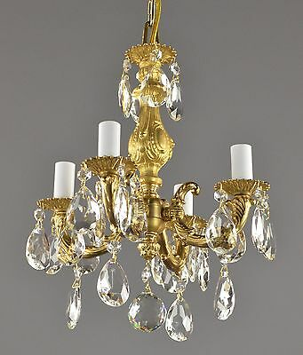 Spanish Brass Custom Reproduction Chandelier Gold Ornate Ceiling Light