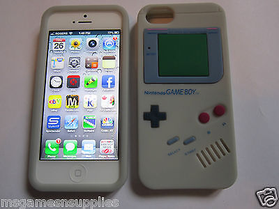 Gray Nintendo Game Boy Gameboy iphone SE 5S 5G 5 Silicone Full Back Case NEW