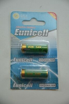 2 x 23A / MN21 / GP23a / A23 / 23AE 12v Eunicell Alkaline Battery Batteries NEW