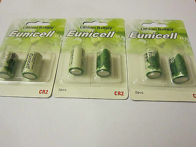 Eunicell 6x CR2 CR-2 CR-2W/1BE CR15H270 3V Lithium Batteries Digital Camera NEW