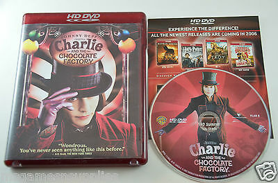 Charlie and the Chocolate Factory - HD DVD, 2006 . COMPLETE Disc, Case + Artwork
