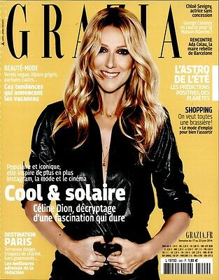 Celine Dion New French Grazia Magazine France June 2016 Mag Encore Un Soir