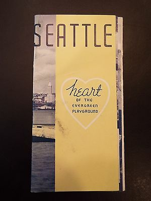 "Seattle ""Heart of the Evergreen Playground"" Vintage Tourist Booklet"