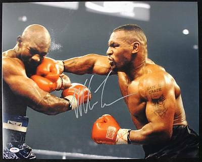 Mike Tyson Boxing Signed Authentic 16X20 Photo Autographed PSA/DNA ITP 1