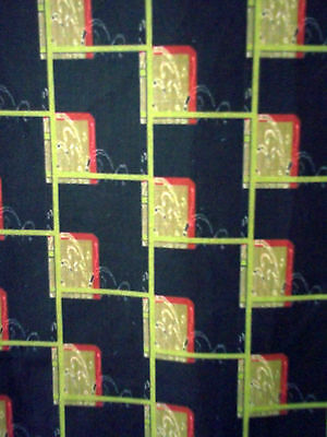 Vintage art deco design cotton fabric drapes curtains abstract custom panels!