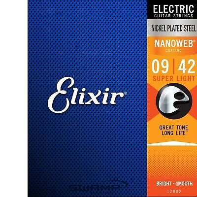 Elixir Nanoweb Electric Guitar Strings - Super Light Gauge - 09-42