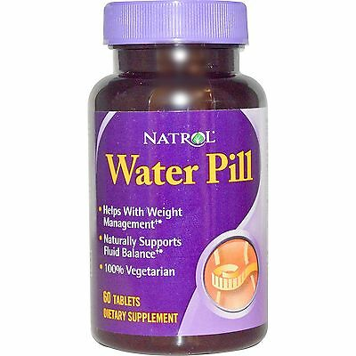 Water Pill 60 Tabs Natrol Diuretc Supports Weight Loss And Fluid Balance