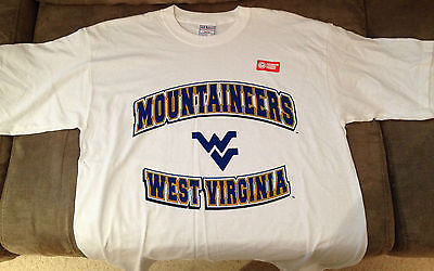 Brand New Licenced Baseball T-Shirts West Virginia Mountaineers White - Large