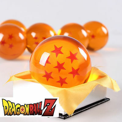 New Dragonball Z Dragon Ball Large 7 Stars Crystal Resin 3''  7.6cm *USA Seller