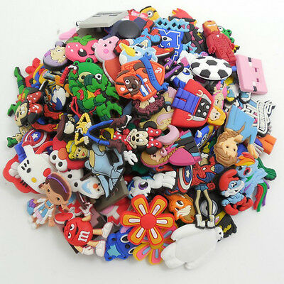 100Pcs PVC Different Random Shoe Charms Decoration Fit Croc & Jibbit Wristbands