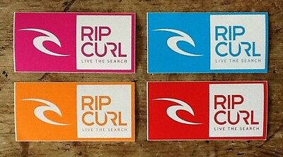"RipCurl ""Live the Search"" Surf Skate Snowboard Stickers Red Pink Blue Orange"