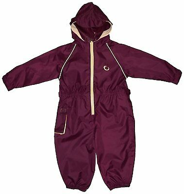 Hippychick Waterproof All-in-One Suit - Burgundy/Sand, 3-4 Years