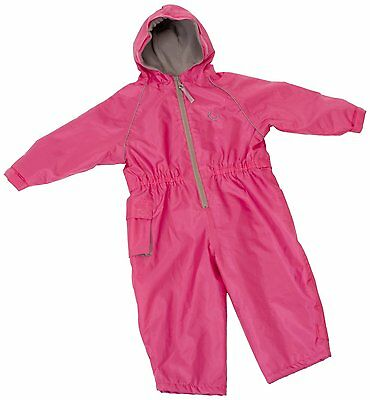 Hippychick Fleece Lined Waterproof All-in-One Suit - Pink, 18-24 Months