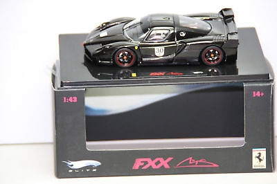 Hotwheels Elite Ferrari Fxx 1:43 N5591 Black Car 30 N5591