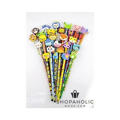 36pcs Piece Pencil Set with Funky Animal Erasers Stationery Set
