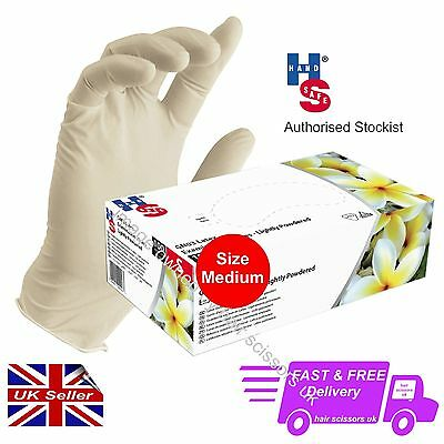 Latex Examination Gloves Tattoo Artist Hairdresser Mechanic Size Medium Box 100