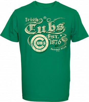 Majestic MLB CHICAGO CUBS St. Patrick's Day T-Shirt NEU/OVP