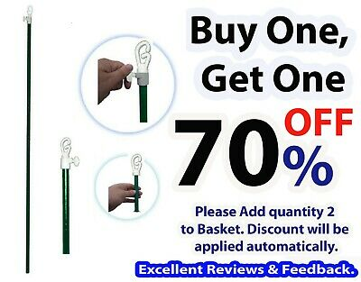 Clothes Line Prop 2.4M New Heavy Duty Telescopic Washing Extending Support