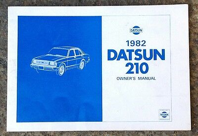 Original 1982 Nissan Datsun 210 Owner's Manual Model B310 Series