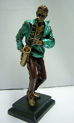 Jazz Musician Sax Plater 11 inch Figurine Resin