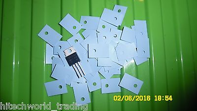 50pcs TO220 silicone pad glassfibre isolator mounting cooler