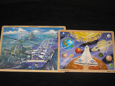 Melissa & Doug Wooden Puzzles for Older Boys Toy Lot