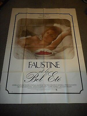 Faustine And The Beautiful Summer - Original Huge French Poster - 1972 - Adjani
