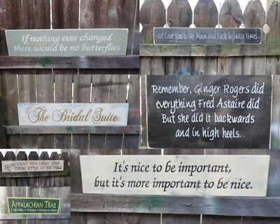 CREATE YOUR OWN  CUSTOM  WOOD SIGN 2ft HAND PAINTED YOUR WORDING & COLORS