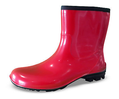 Stridy Red Gumboots - Half or Ankle Height - New with Tags