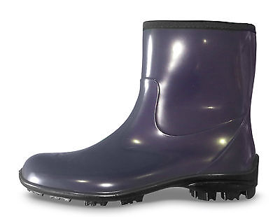 Stridy Purple Dark Violet Gumboots - Half or Ankle Height - New with Tags