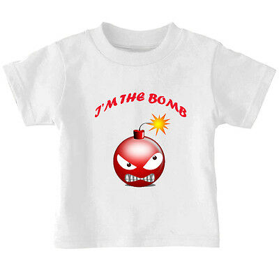 I'm The Bomb Baby Toddler Kid T-shirt Tee - 6mo Thru 7t
