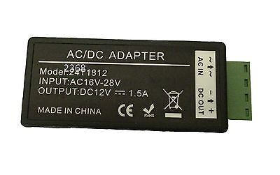 24VAC to 12VDC 1.5A Power Supply Voltage Converter