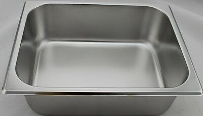 Stainless Steel Bain Marie Trays, 1/2 Size 100mm