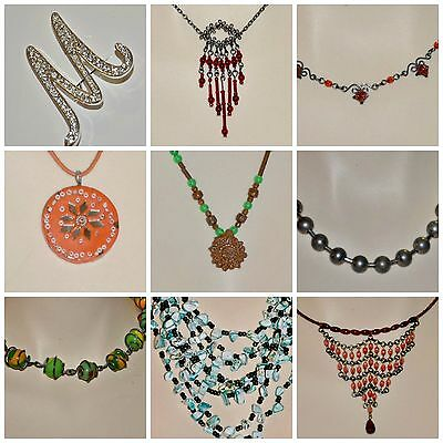 Jewelry lot 12pcs necklaces brooch piercing earring costume fashion watch gift