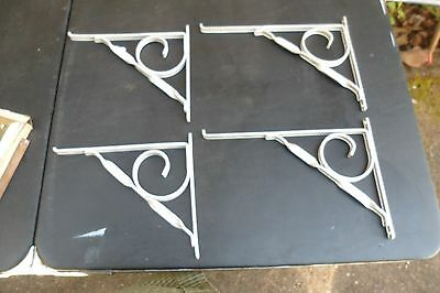 X2 Sets Retro Aluminum Scroll & Twist Deco  4 Shelf Brackets