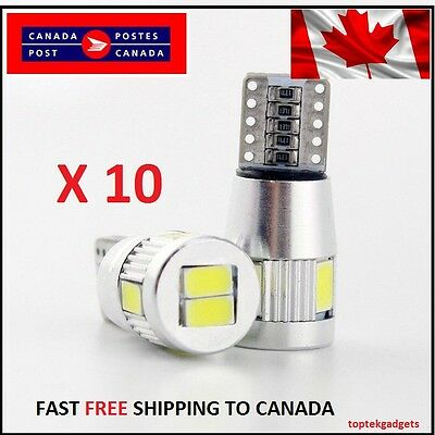10X T10 White 501/194 W5W  LED 6 SMD HID CANBUS ERROR FREE Car Side Wedge Light
