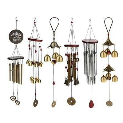 Metal Bells Wind Chime Outdoor Garden Hanging Charm Decor Feng Shui Ornament
